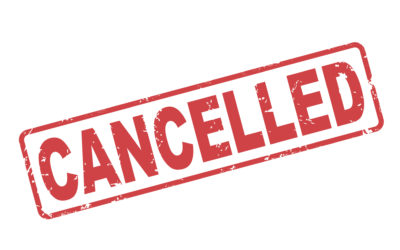 Events and Worship Canceled